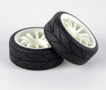 HT23W 1/10 Touring Tyre - White
